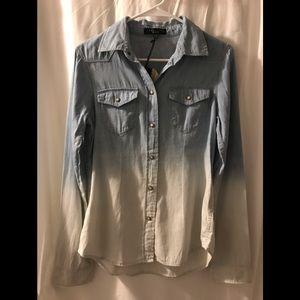 Sanctuary Clothing Women's XS Western  Ombré Shirt